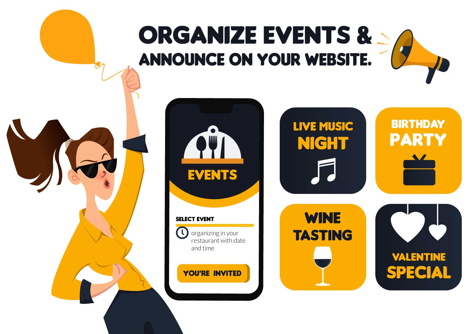 Features of Online Food Ordering System - Events